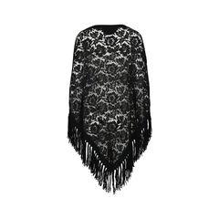 Valentino fringed lace poncho 2?1516078873