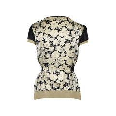 Dolce gabbana floral printed silk top 2?1516174328