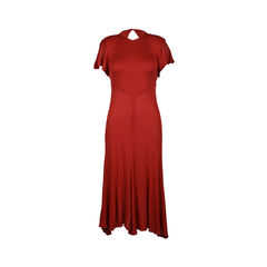 Red Jersey Maxi Dress