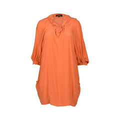 Shift Dress with Drawstring