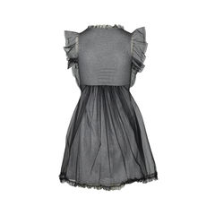 Red valentino v neck cotton mesh dress 2?1516259703