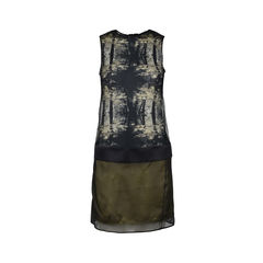 Silk Printed Sleeveless Dress