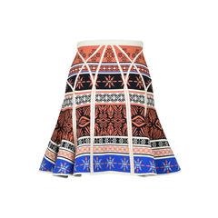 Diane von furstenberg samara desert bands printed fit and flare skirt 2?1516262371