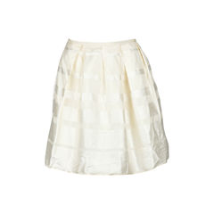 Silk Faille Mini Skirt