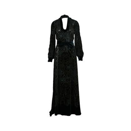 Authentic Second Hand Roberto Cavalli Velvet Maxi Wrap Dress (PSS-200-00927)