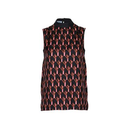 2de4567b0 Authentic Second Hand Prada Geometric Silk Blouse (PSS-228-00023 ...