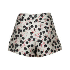 Giamba cherry brocade shorts 2?1516603768