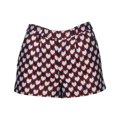 Jacquared Heart Shorts