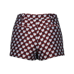 Red valentino jacquared heart shorts 2?1516603804