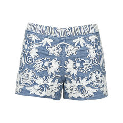 Marisa Embroidered Demin Shorts