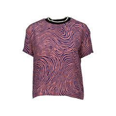 Zebra Print Silk Blouse