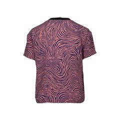 Opening ceremony zebra print silk blouse 2?1516603967