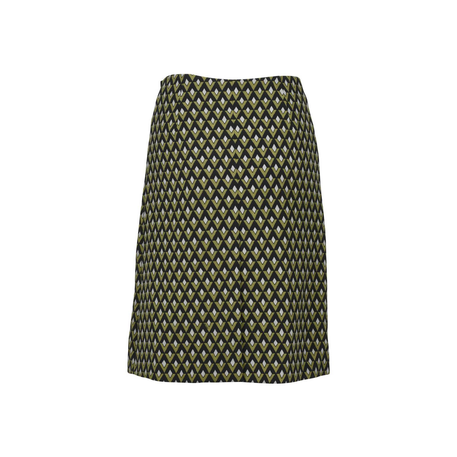 38c844b92 ... Authentic Second Hand Prada Geometric Embellished Skirt (PSS-228-00025)  - Thumbnail ...