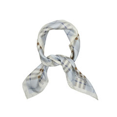 Silk Check Scarf