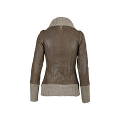 Mackage ribbed trim leather jacket 2?1516852992