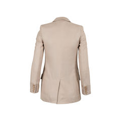Stella mccartney straight cut blazer neutral 2?1516853275