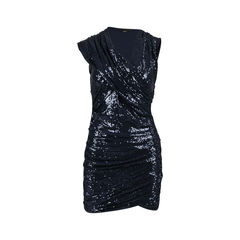 Drapey Stretch Sequin Dress