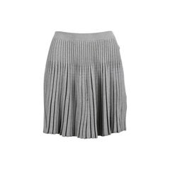 Pleated Stretch Skirt