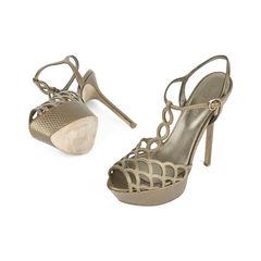 Sergio rossi t strap caged platform sandals 2?1517201312