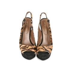 Sling-back Animal Print Sandals