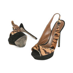 Sergio rossi sling back animal print sandals 2?1517201372