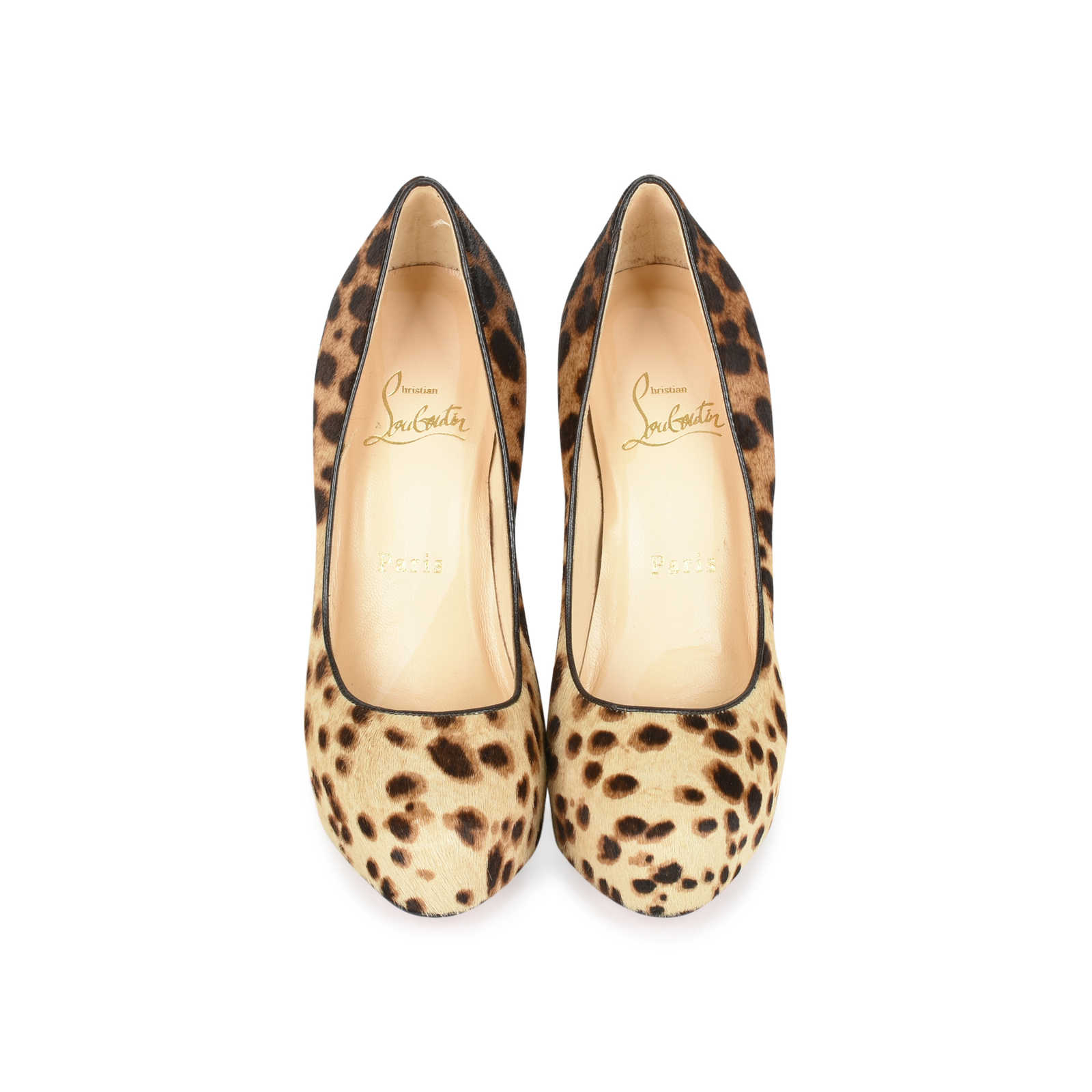 7708ac6eebc Authentic Second Hand Christian Louboutin Calf Hair Leopard Print ...