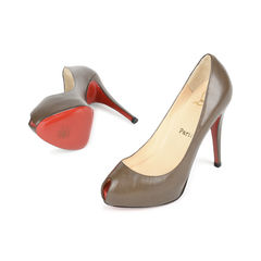 Christian louboutin brown peep toe pumps 2?1517202052