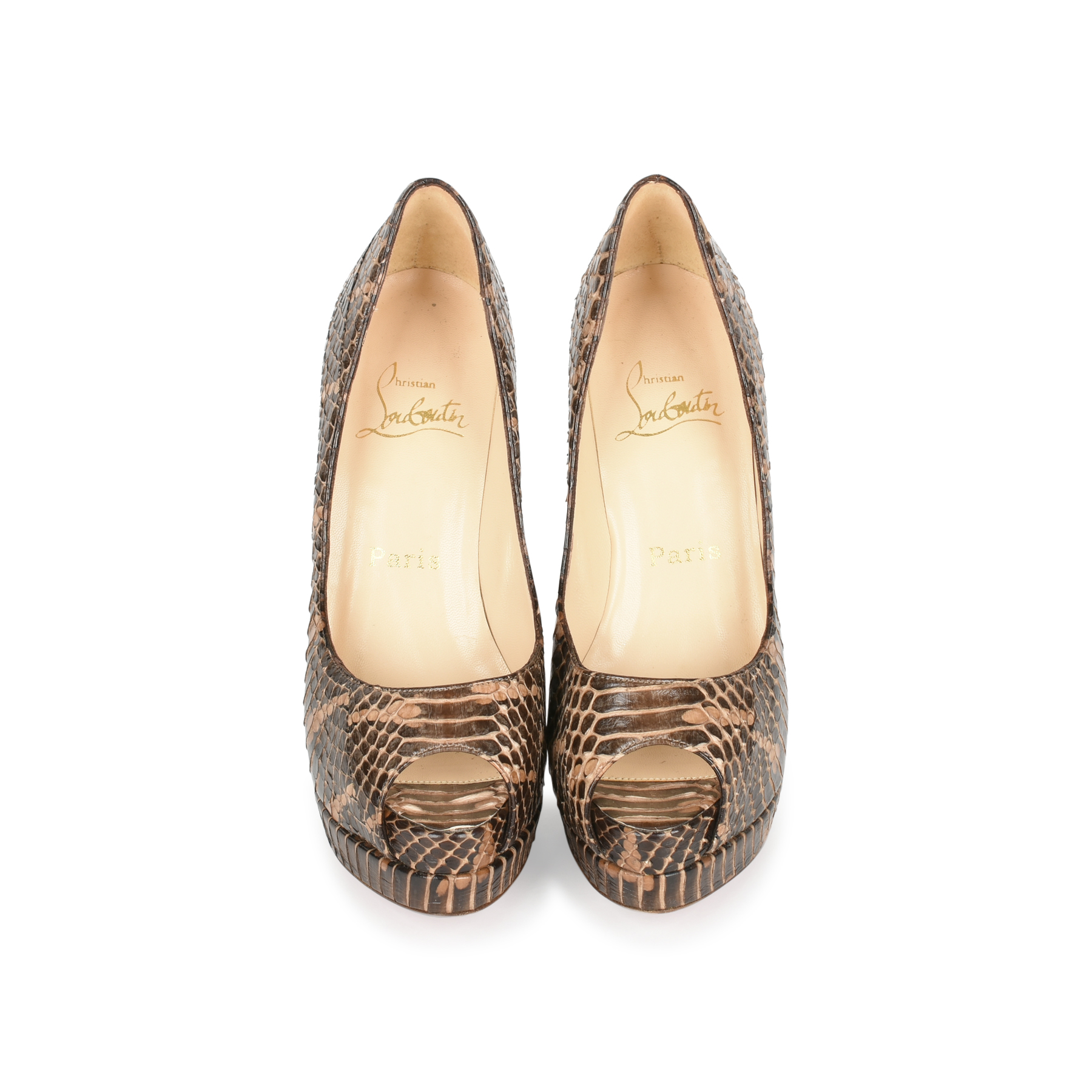 3549015d6a Authentic Second Hand Christian Louboutin Altadama Python Pumps  (PSS-080-00243) | THE FIFTH COLLECTION