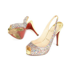 Christian louboutin no prive glitter sling back pumps 2?1517201904