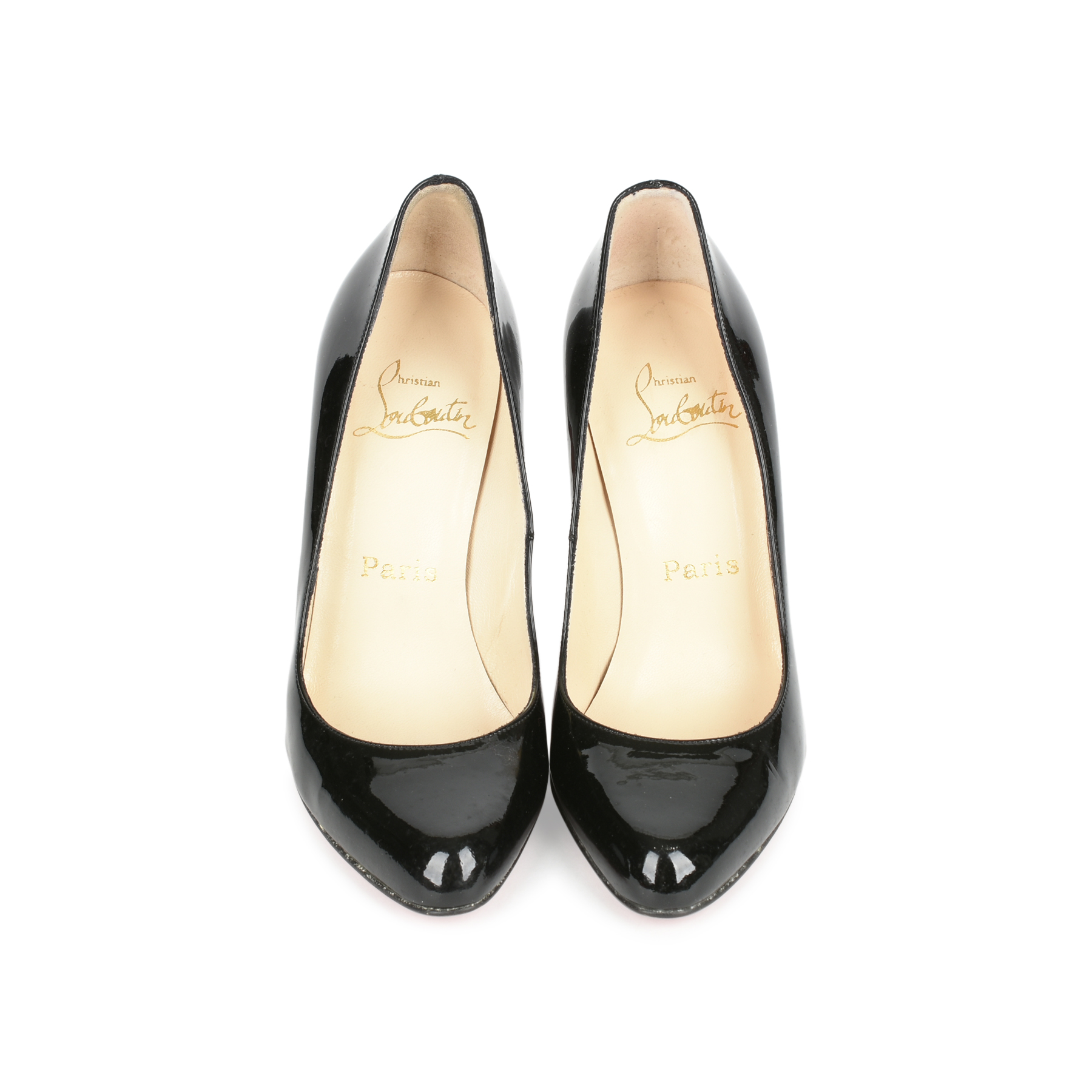 13428f1e8efa Authentic Second Hand Christian Louboutin Patent Simple Pumps  (PSS-080-00256) - THE FIFTH COLLECTION
