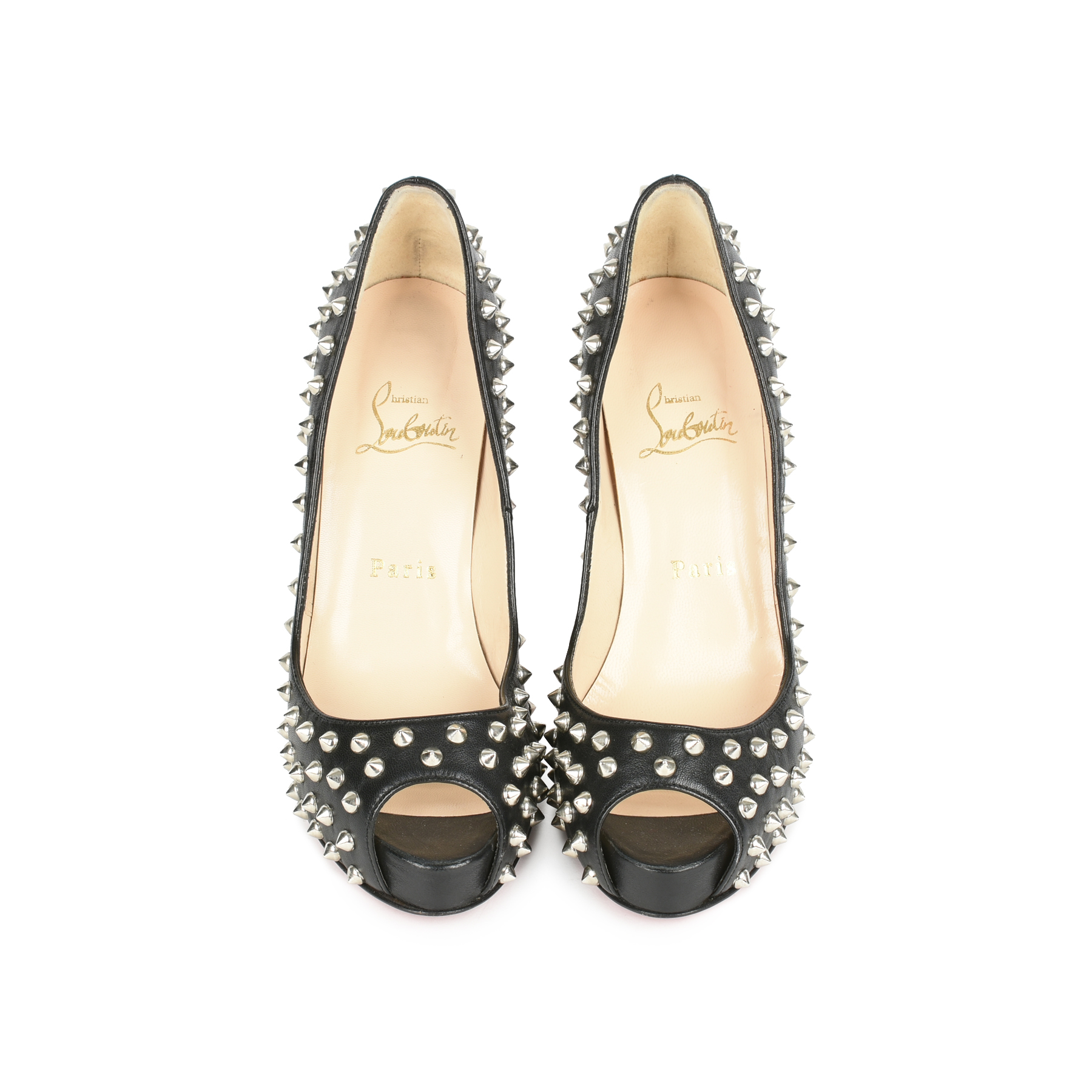 1c126b5117c9 Authentic Second Hand Christian Louboutin Very Prive Spikes Pumps  (PSS-080-00257)
