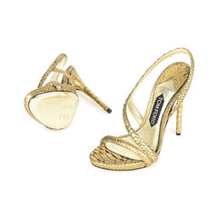 Tom ford gold snake skin strappy sandal 2?1517202784