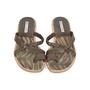 Authentic Second Hand Manolo Blahnik Leather Slide Sandals (PSS-054-00202) - Thumbnail 0