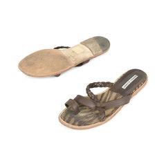 Manolo blahnik leather slide sandals 2?1517208072
