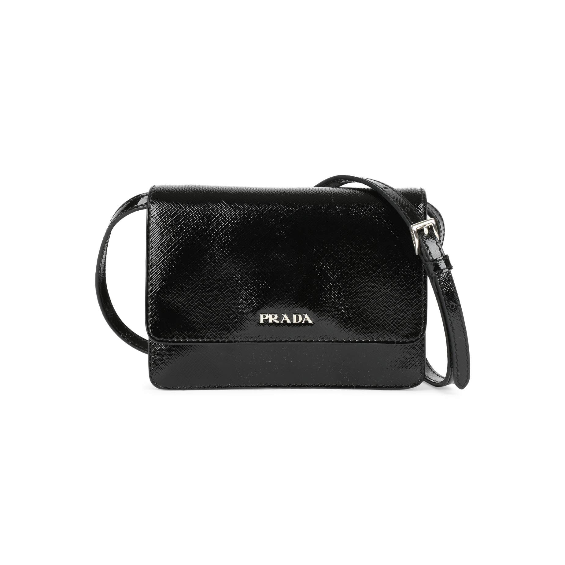f3833aebc7bc Authentic Second Hand Prada Saffiano Lux Mini Crossbody Bag (PSS-446-00002)  | THE FIFTH COLLECTION