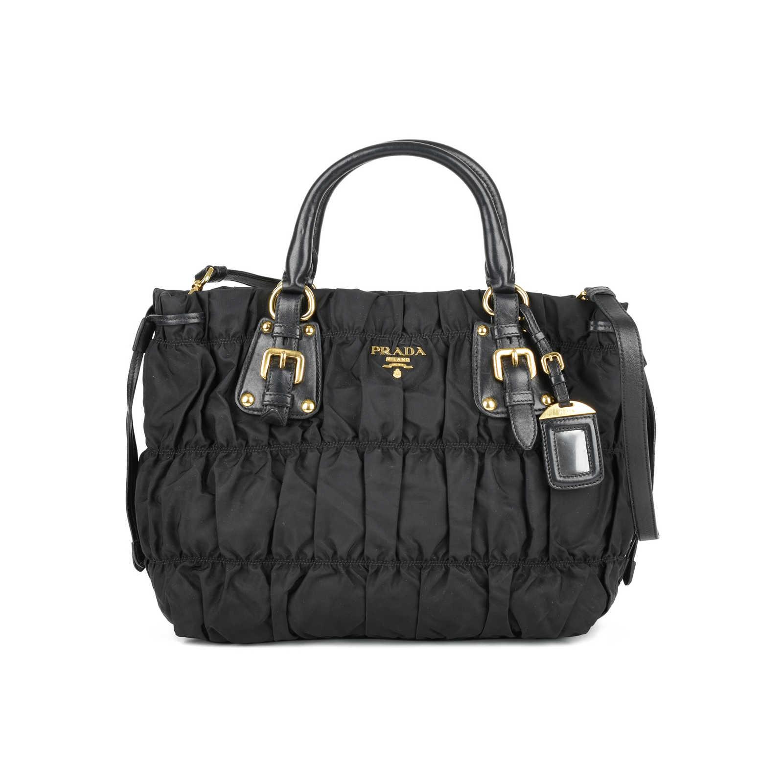 6a52399a34c4f5 Authentic Second Hand Prada Tessuto Gaufre Bag (PSS-446-00010) - Thumbnail  ...