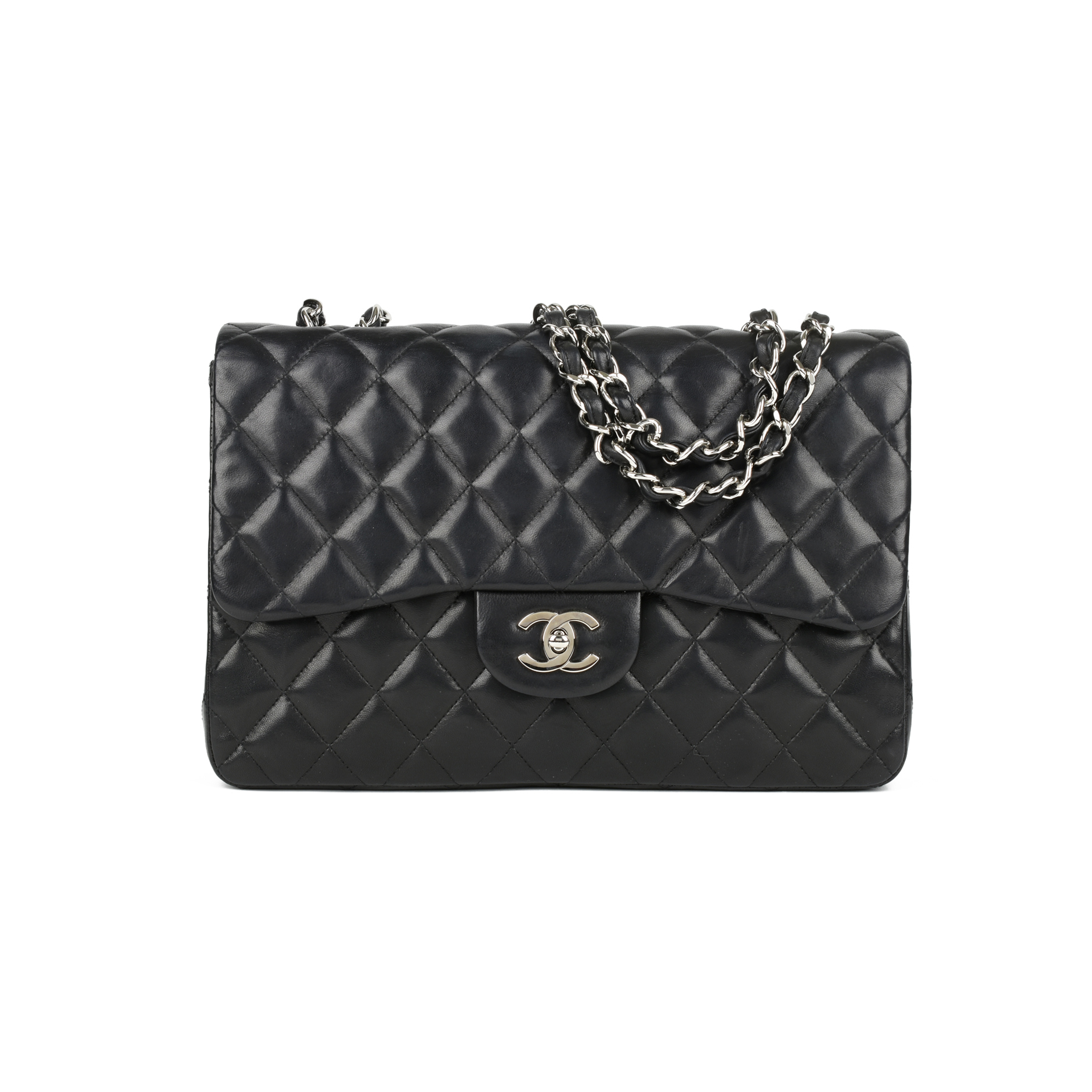 f96dd080bc0d Authentic Second Hand Chanel Classic Jumbo Flap Bag (PSS-446-00012) | THE  FIFTH COLLECTION