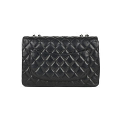 Chanel classic jumbo flap bag black 2?1517219196