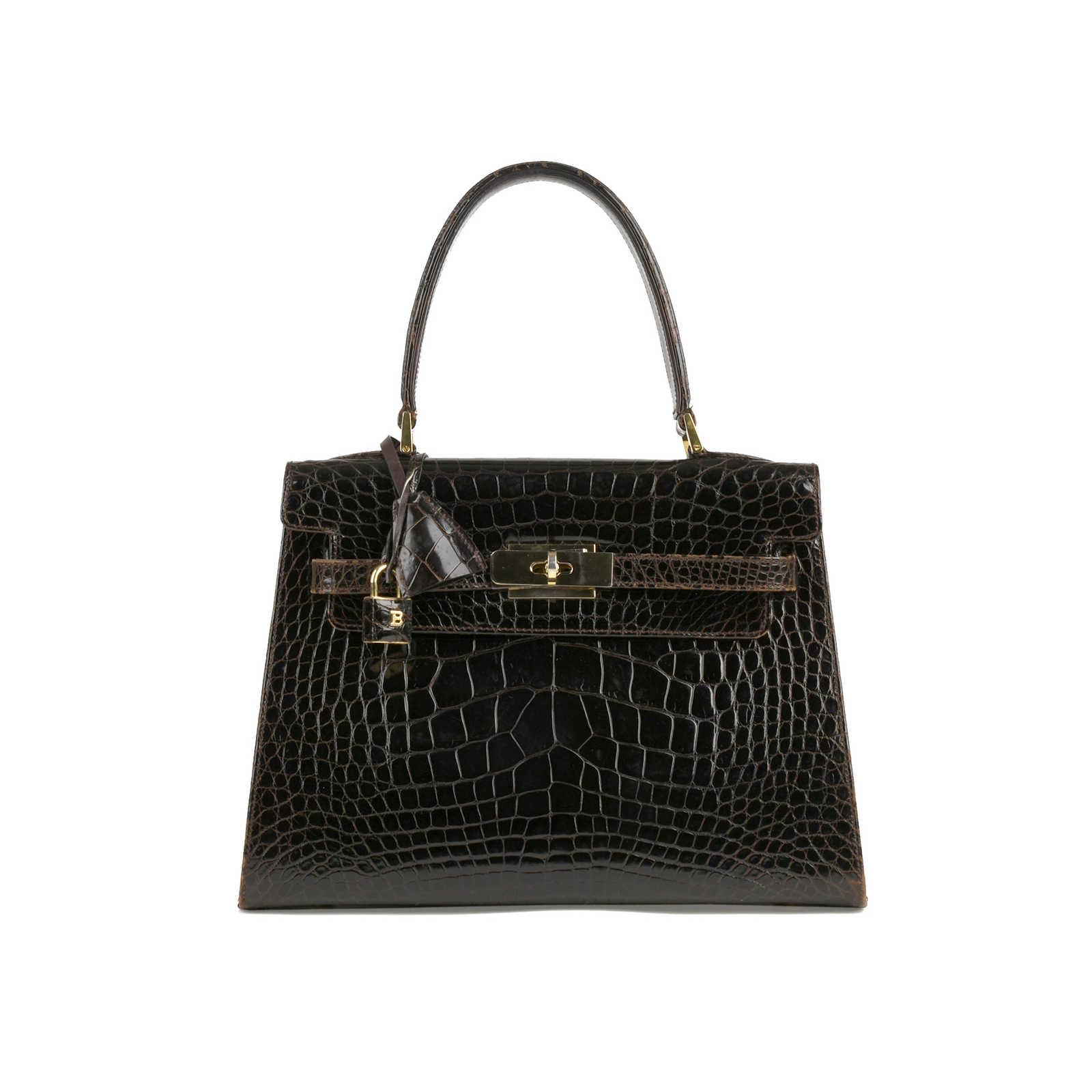 234496dc0129e1 Authentic Vintage Bally Kelly Style Bag (PSS-355-00023) - Thumbnail 0 ...