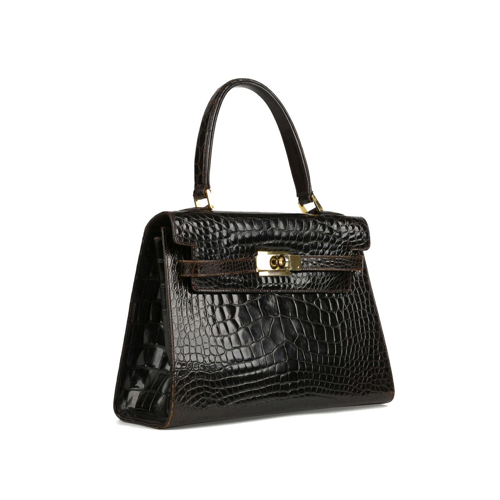 ab27a709a4ab ... Authentic Vintage Bally Kelly Style Bag (PSS-355-00023) - Thumbnail 1  ...