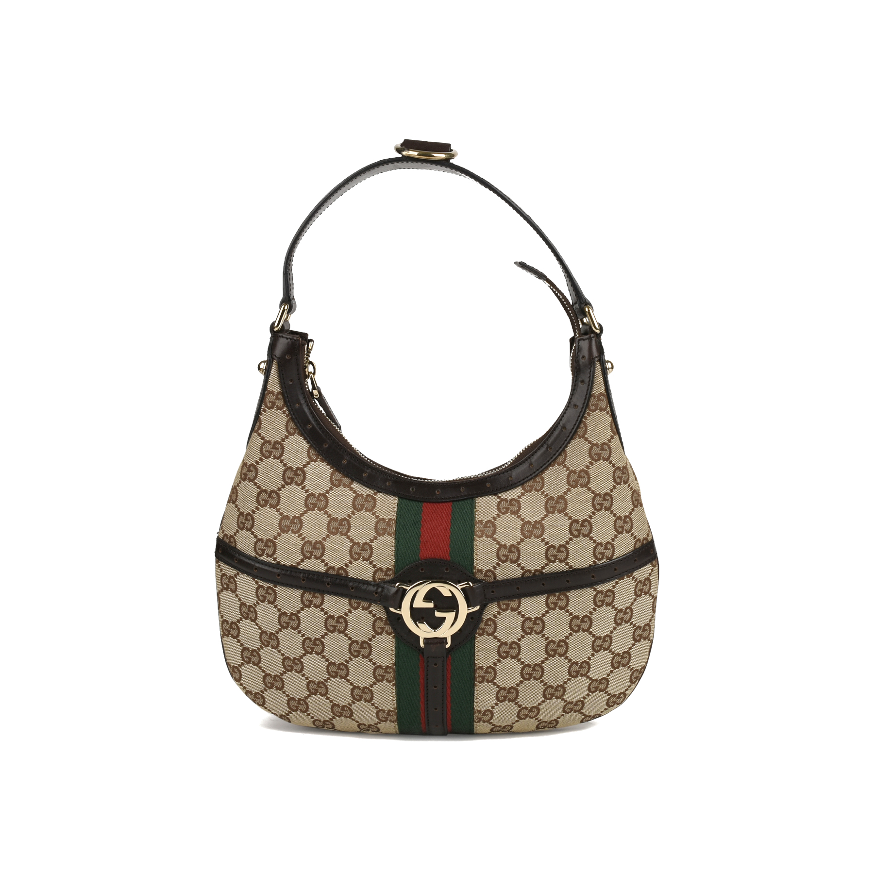 d89882d3db Authentic Second Hand Gucci Canvas Shoulder Bag (PSS-415-00041) - THE FIFTH  COLLECTION