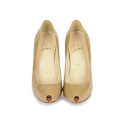 Authentic Second Hand Christian Louboutin Patent Open Clic Pumps (PSS-080-00244)