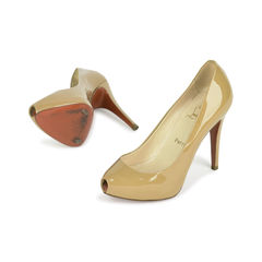 Christian louboutin patent open clic pumps 2