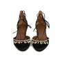 Authentic Pre Owned Aquazzura Alexa Jewel Lace Up Flats (PSS-197-00052) - Thumbnail 0