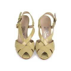 Patent Criss Cross Sandals