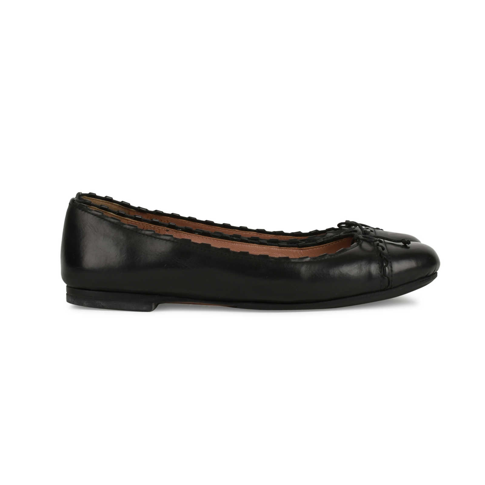 Alaïa Cap-Toe Patent Leather Flats