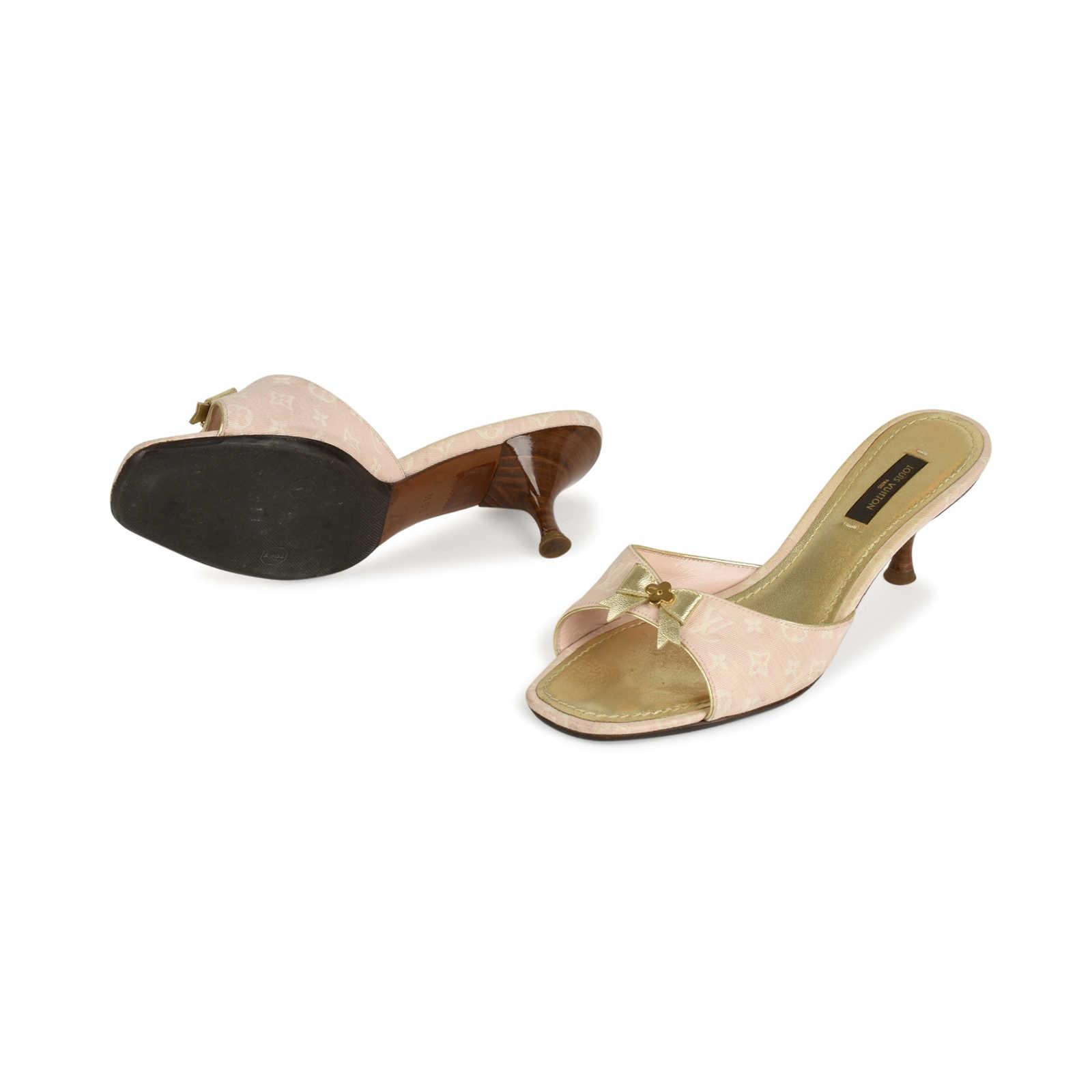 0f372ddf5cbcd3 ... Authentic Second Hand Louis Vuitton Monogram Canvas Sandals  (PSS-436-00034) ...