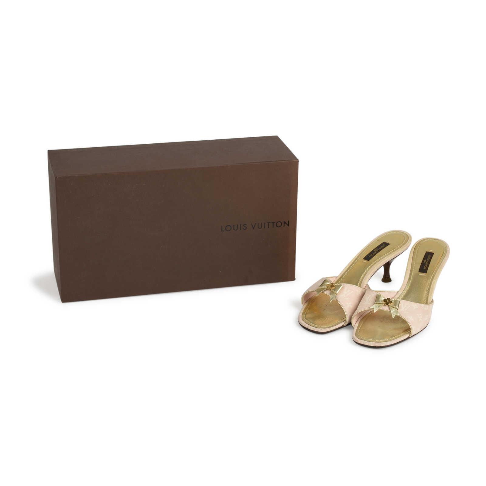 215b2770cb79b4 ... Authentic Second Hand Louis Vuitton Monogram Canvas Sandals  (PSS-436-00034) -