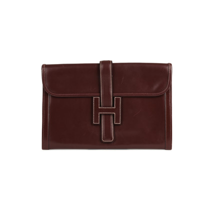 Hermes Box Jige Clutch Red