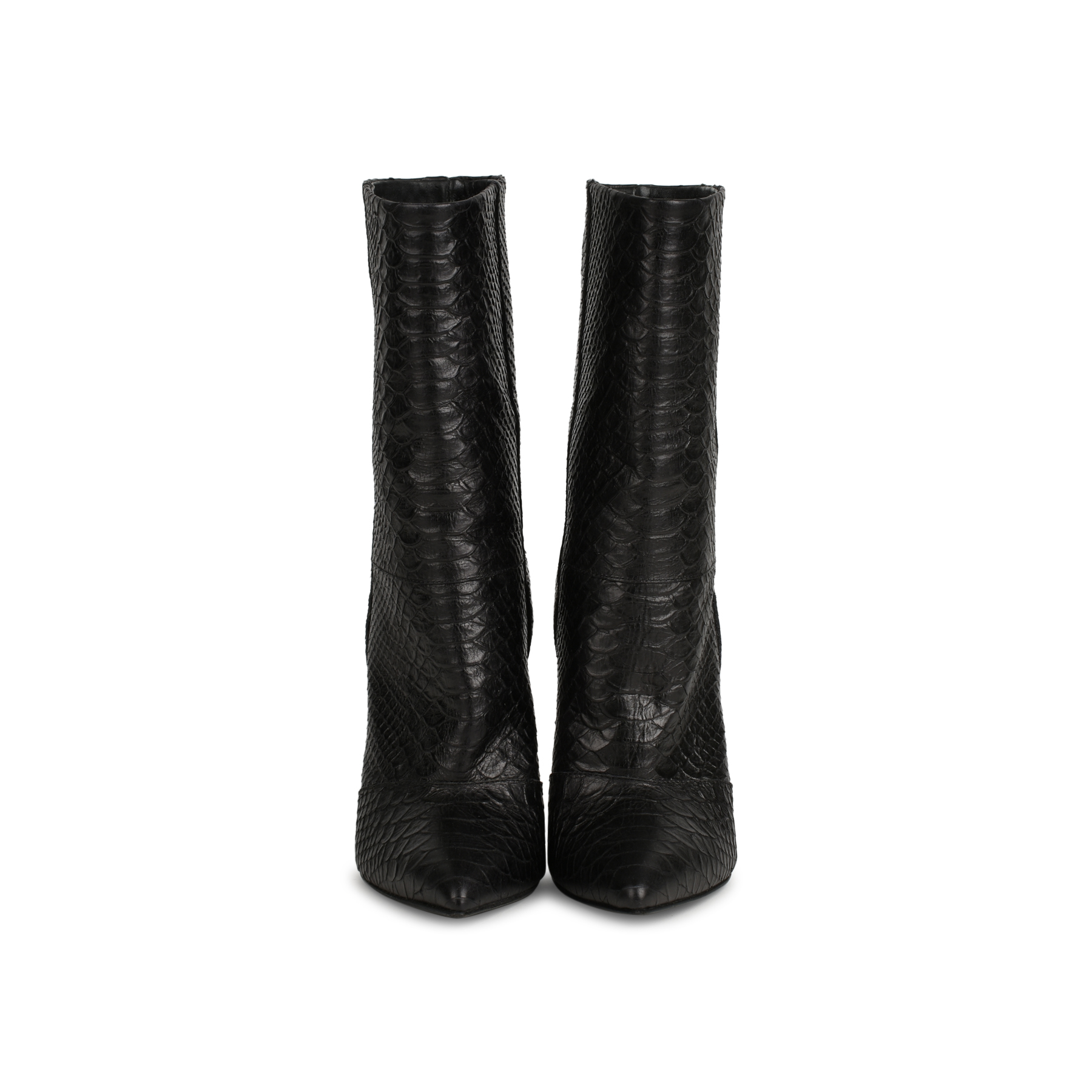 Authentic Pre Owned Giuseppe Zanotti Python Wedge Boots (PSS-441-00019)  1d613521b551